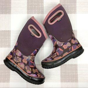 Bogs Original Owl Rain Snow Rubber Boots Sz 12